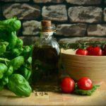 olijfolie basilicum tomaat